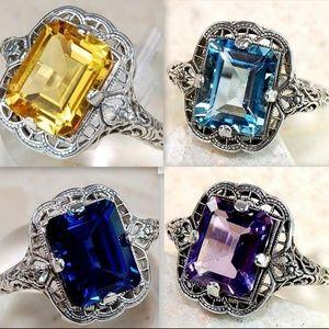 Jewelry - **SALE**$10 OFF!**Lot 4 Faux Gemstone Rings